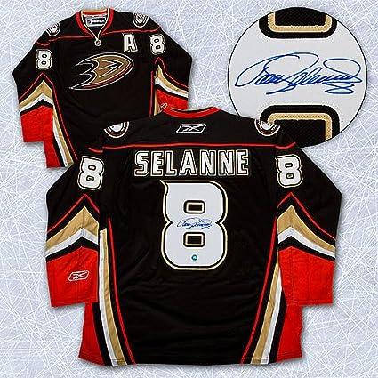 best sneakers be347 a59dd Teemu Selanne Anaheim Ducks Autographed Reebok Premier ...