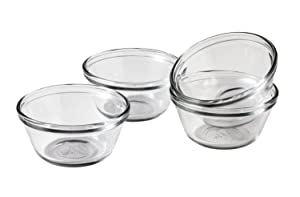 Anchor Hocking 6-Ounce Custard Cups, Set of 4, Frustration Free Packaging
