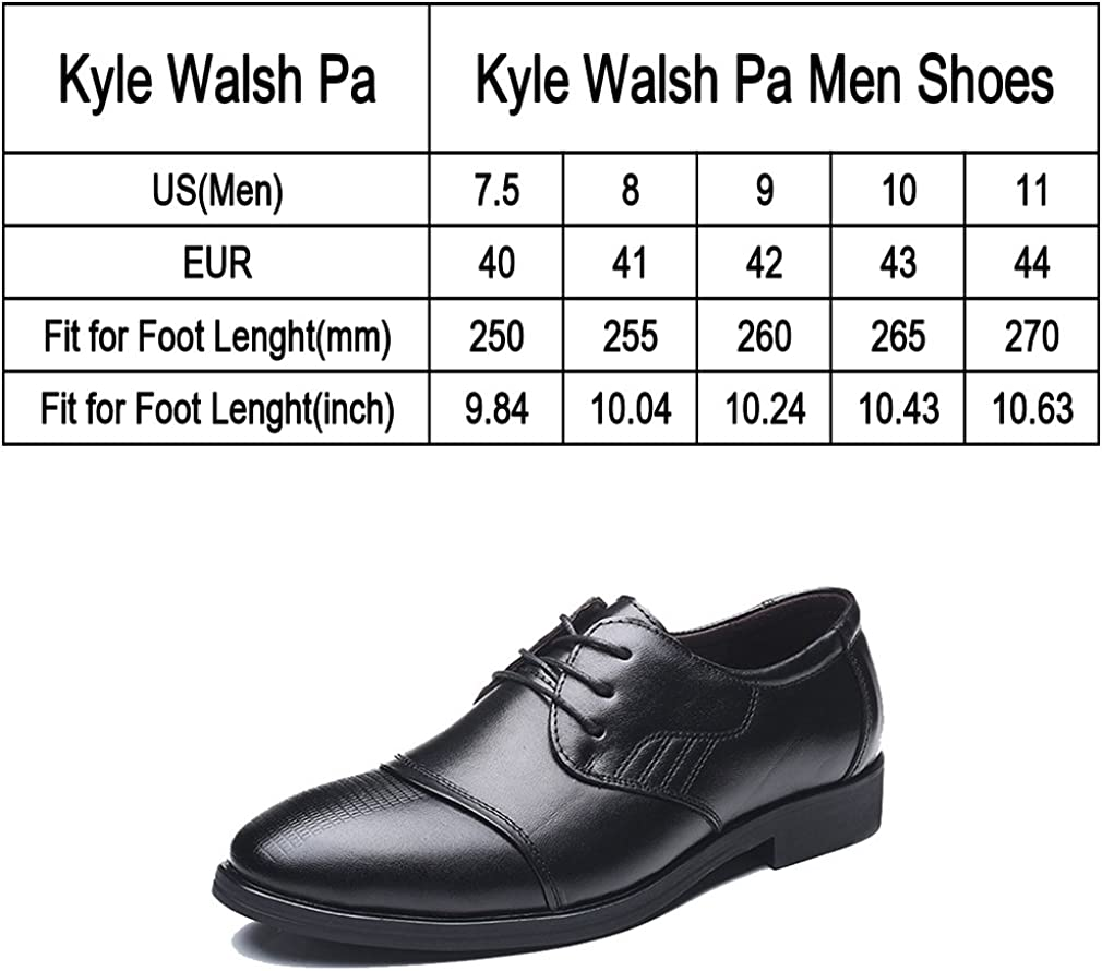 Mens Business Formal Ankle Smooth Pointed Toe Lace Up Oxfords Shoes Black