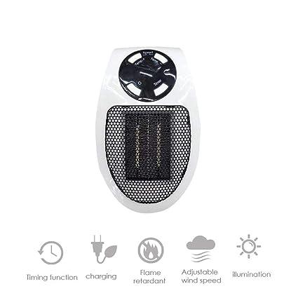 Mini calentador Calentador de aire eléctrico Potente soplador caliente Estufa de ventilador de calentador rápido para