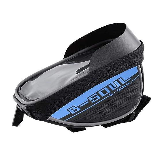 Bolsa Bicicleta Impermeable Bolsa Funda Móvil de Bici Bolso del Tubo Pantalla PVC Transparente para Manillar de Bicicleta para teléfono 5.5 Inches (Azul): ...
