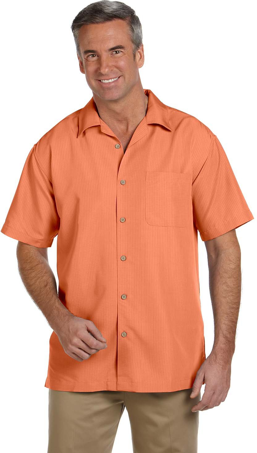 Harriton M560 - Men's Barbados Textured Camp Shirt M29540