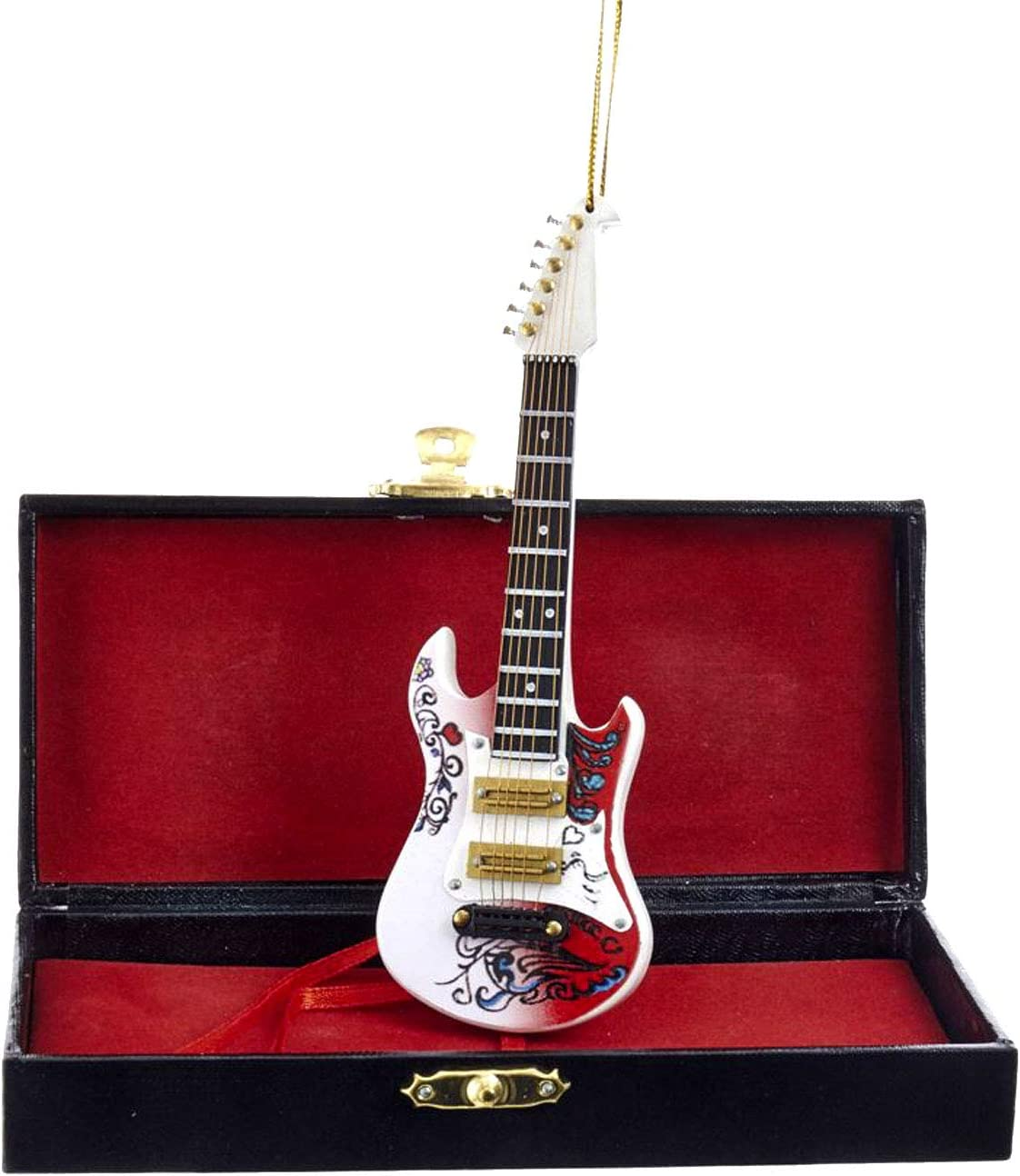 Kurt Adler Jimi Hendrix JH2182 - Guitarra de Navidad (14 cm ...