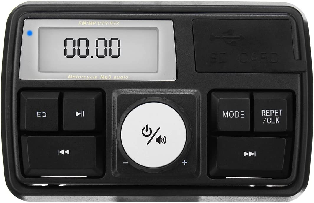 Alamor Wasserdichtes Motorrad Audio Sound System Stereo Lautsprecher Mp3 Radio Usb Mit Bluetooth Funktion Küche Haushalt