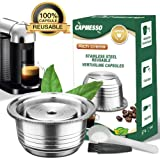 CAPMESSO Coffee Capsule, Stainless Steel Reusable Coffee Pod for Espresso Nespresso Refillable Vertuo Capsule Pod…