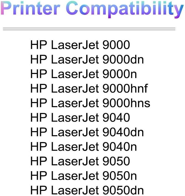 4-Pack 9050n 9050dn Printer Compatible C8543X Laser Printer Toner Cartridge High Yield Use for HP 9050 Black