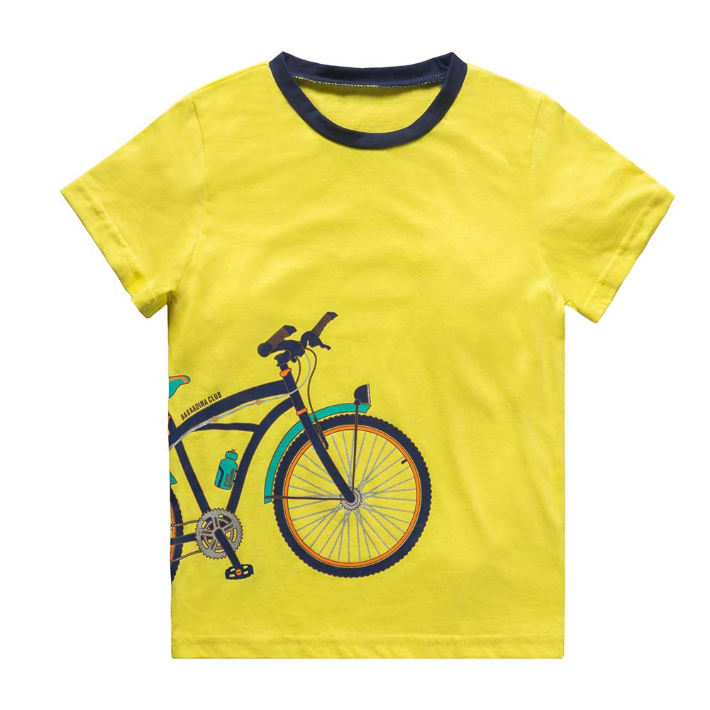 KID1234 Boys Shirt - Boys Short Sleeve t Shirt,Cotton T Shirt Boys 3-13 Years,5 Colors