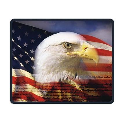 Us Flag Eagle Wallpaper Non Skid Natural Rubber Mouse Pad Computer Gaming Mousepad