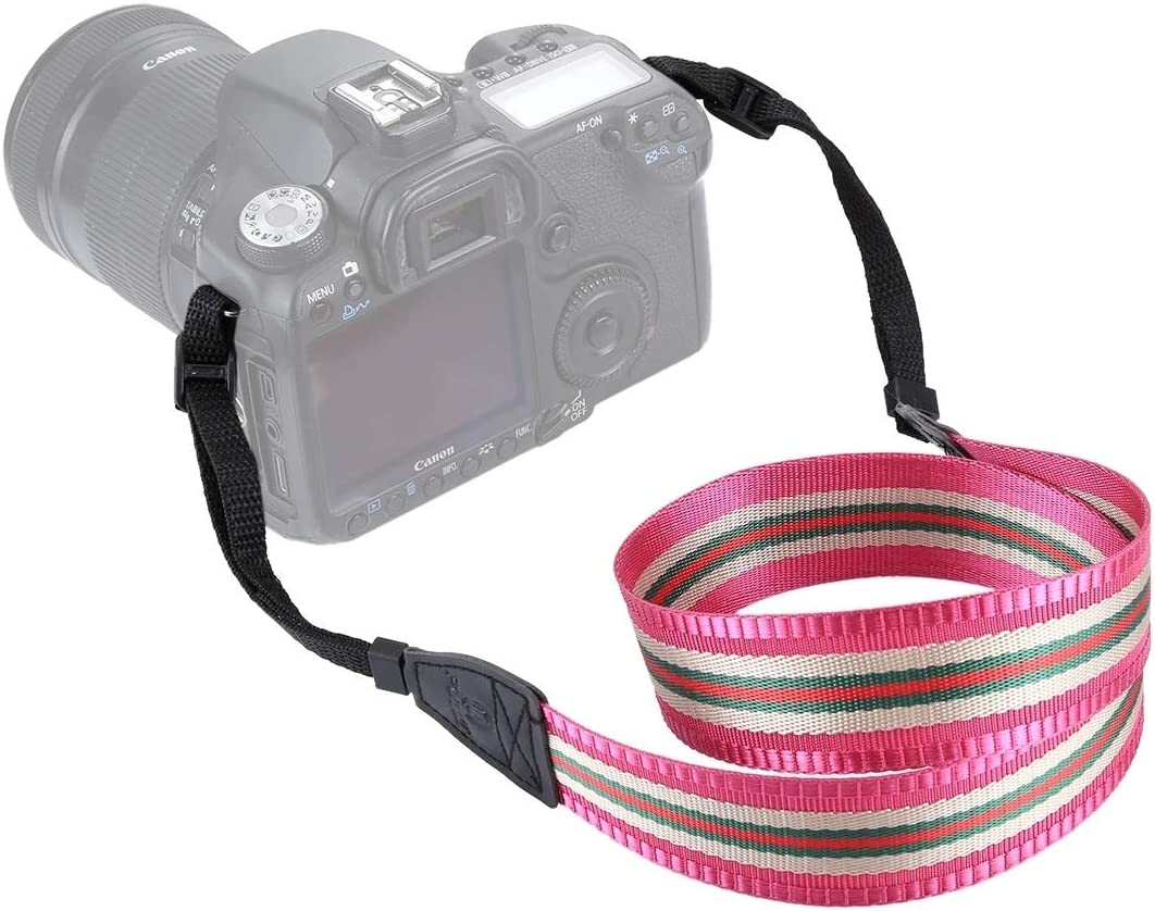 JINGZ Stripe Style Series Shoulder Neck Strap Camera Strap for SLR//DSLR Cameras Durable Color : Brown