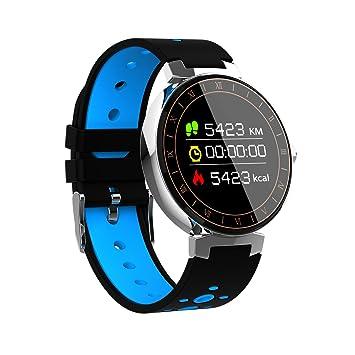Reloj Deportivo Grande Redondo Unisex L8, OLED Touch pulsera Sport Fitness Activity Tracker Pulsera Impermeable IP68, Smartwatch Bluetooth con presión ...