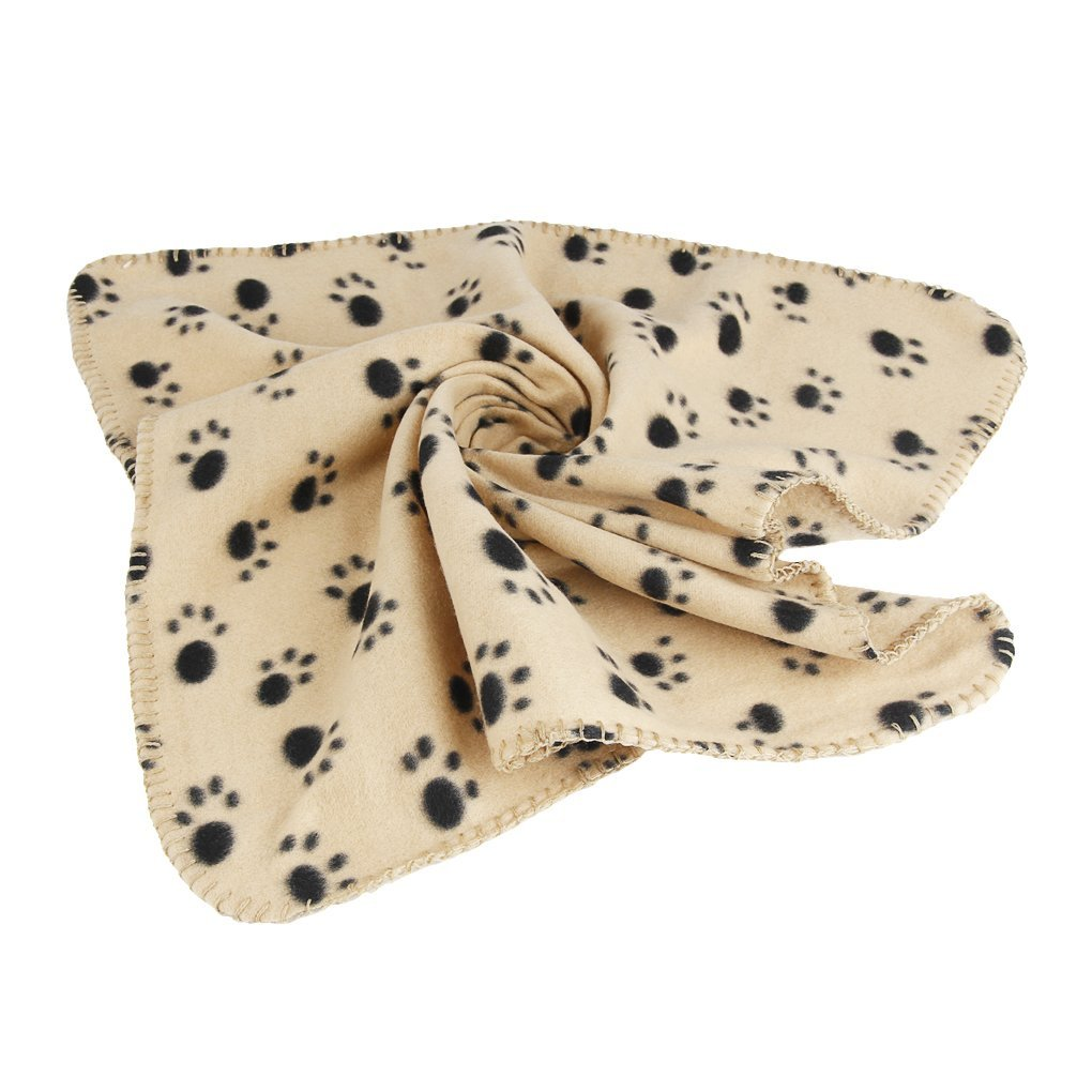 FakeFace Animal Supplies Small Pet Animals Dog Cat Puppy Kitten Guinea Pig Ferret Soft Blanket Doggy Warm Bed Mat Paw Print Cushion Quilt MioCloth