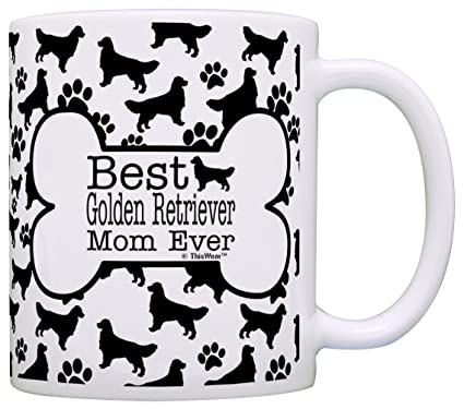 Amazon Com Dog Owner Gifts Best Golden Retriever Mom Ever Paw