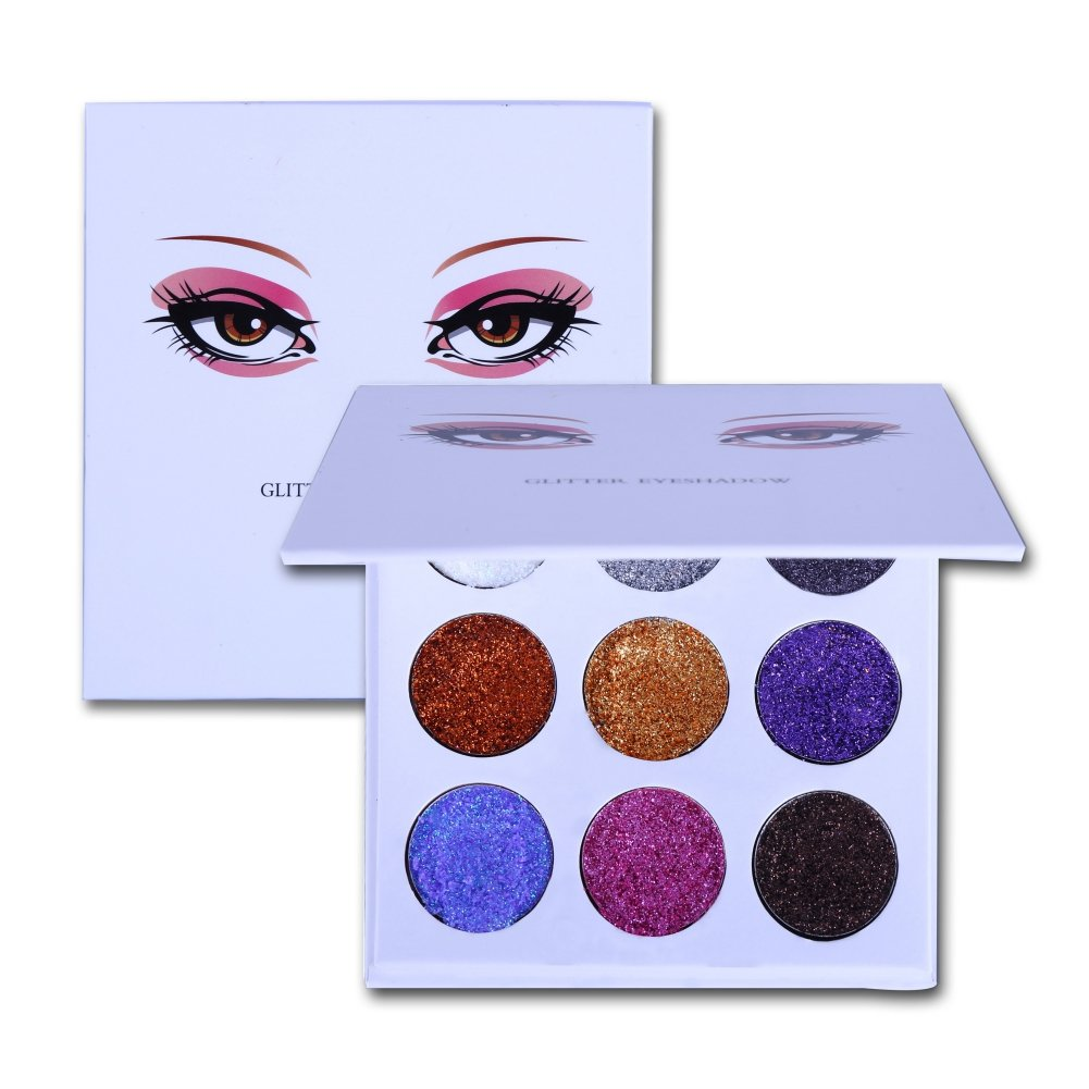 Matte Glitter Eyeshadow Palette, 12 Colors Nude Shimmer Long Lasting Eye Shadow Powder Makeup Cosmetic Ochine