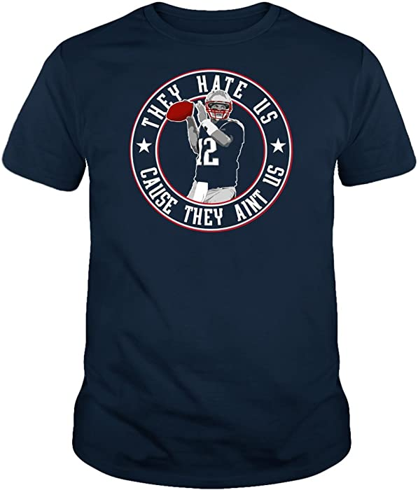 Amazon.com  TWO Apparel They Hate Us New England Fans Shirt (S ... bf9cf116b