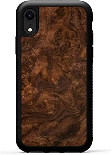 product image for Carved - iPhone XR - Luxury Protective Traveler Case - Unique Real Wooden Phone Cover - Rubber Bumper - Walnut Burl