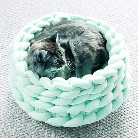GKKXUE Cama para Dormir de Gatos, Almohadilla de Cachorro Lavable a máquina, Hermosa Nido