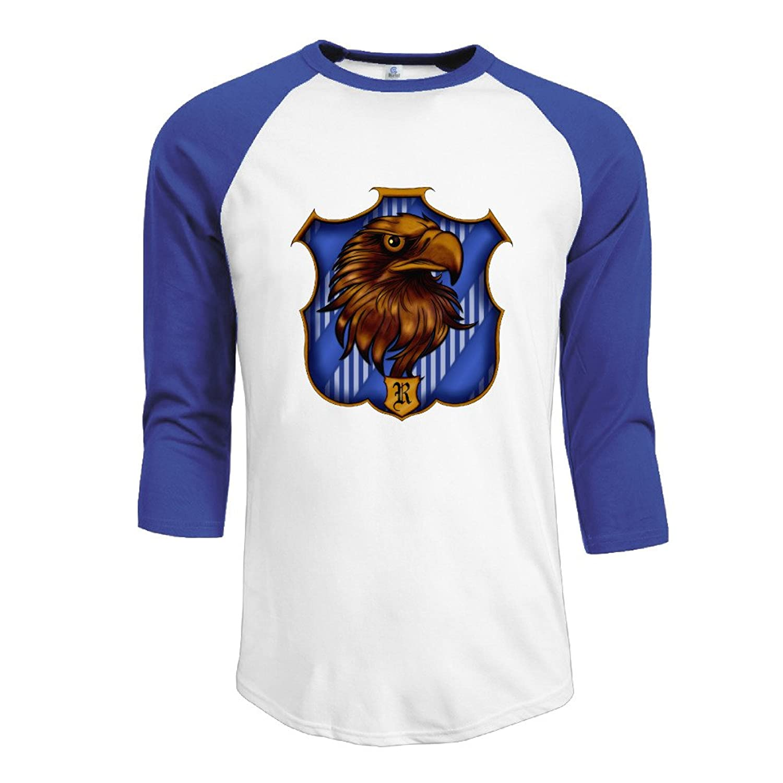 LiZizz Men's Harry Potter Ravenclaw 3/4 Sleeve Baseball T Shirts