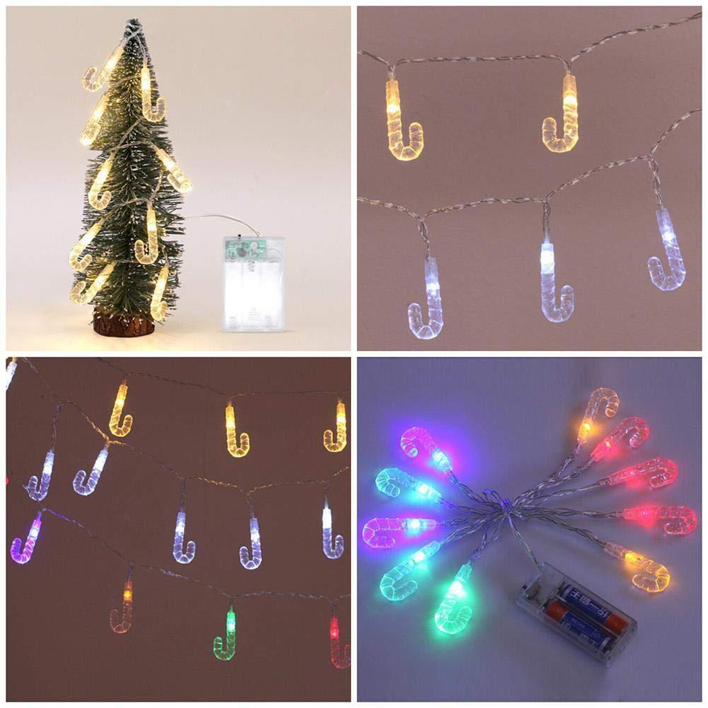 Anglewolf 1,2 m 10 luces LED de cadena exterior hada transparente césped Navidad fiesta lámpara abrazadera hogar decoración luces bombillas iluminación para ...