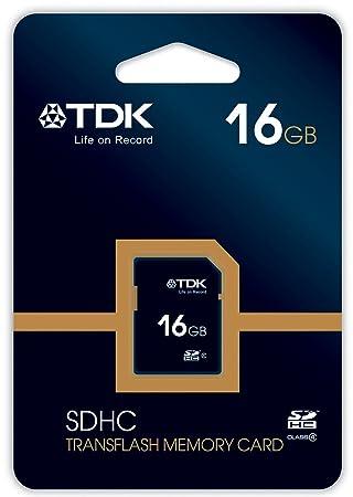 TDK T78540 - Tarjeta de Memoria SDHC de 16 GB, Clase 4: Amazon.es ...