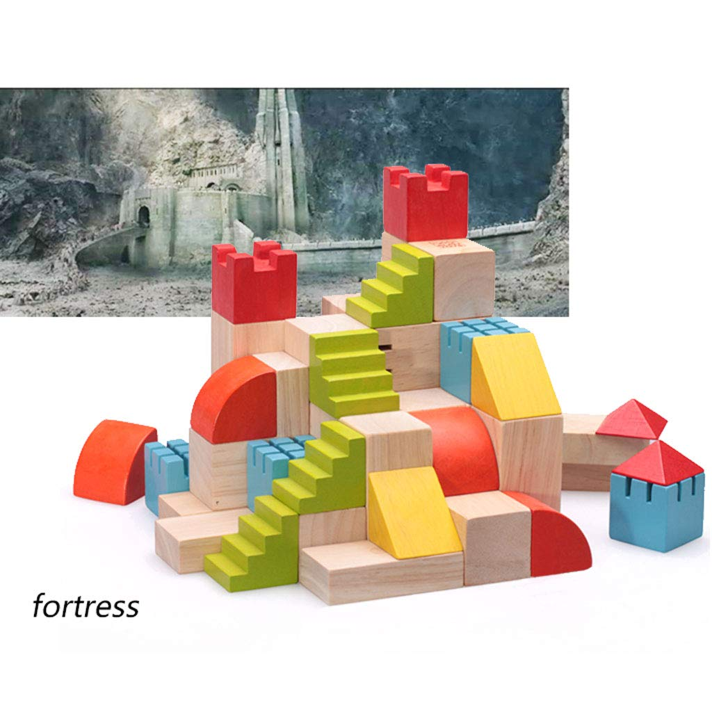 HXGL-Toys Wooden Toy Castle Children's Gift Early Education Puzzle 3-6 Years Old (Color : Multi-Colored) by HXGL-Toys (Image #4)