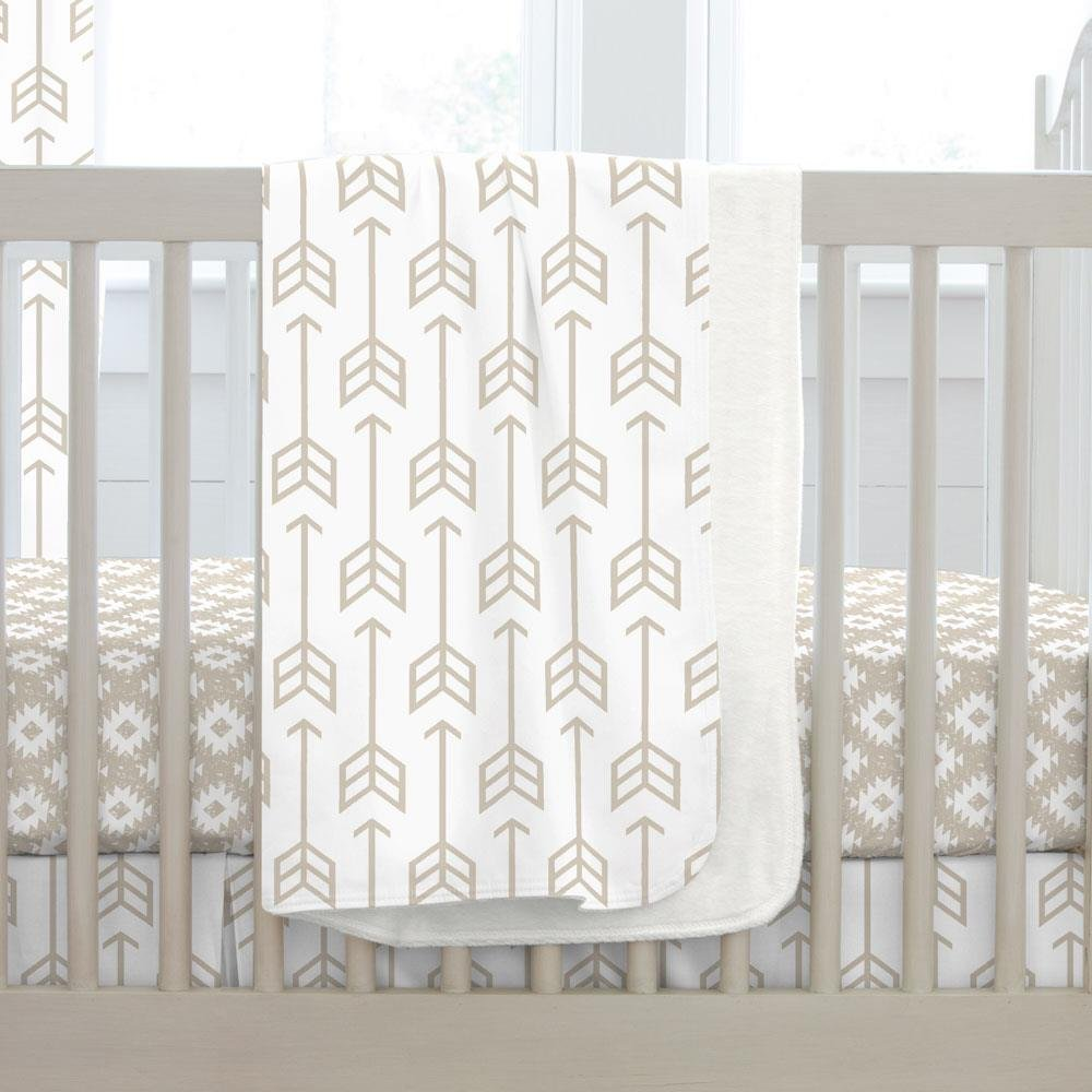 Carousel Designs Taupe Arrow Crib Blanket