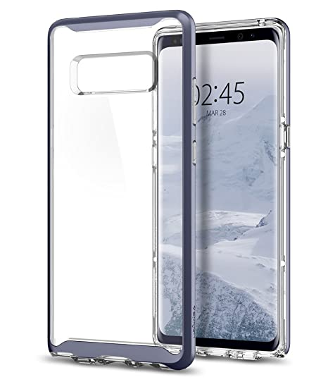 f880882c2 Amazon.com  Spigen Neo Hybrid Crystal Designed for Samsung Galaxy Note 8  Case (2017) - Orchid Gray  Cell Phones   Accessories