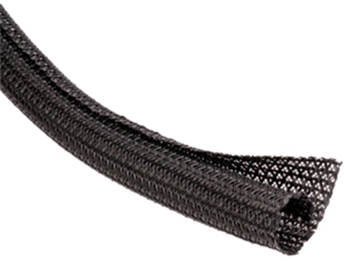1/2'' F6 Braided Wrap Around Sleeving - 150FT - Black