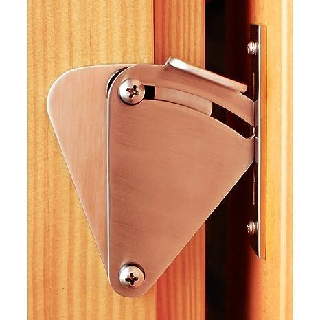 Hahaemall - Kit de cerradura para puerta de madera corredera
