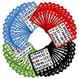 100 Bingo Cards in Mixed Colors by Royal Bingo Supplies by Royal Bingo
