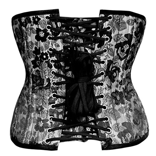 Mahulena Authentic Underbust Training Waist Corset Boned Steel 4AqwrxZ4