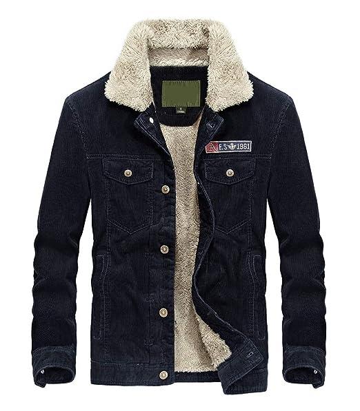 Amazon.com: Lavnis - Chaqueta de pana para hombre: Clothing