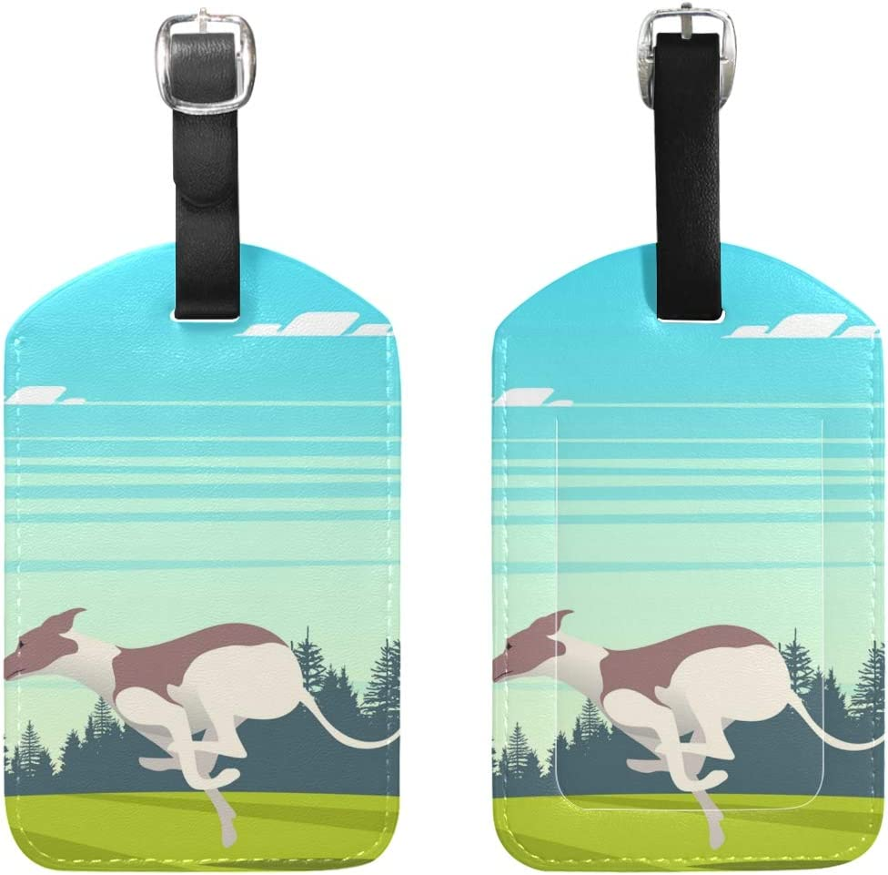 Christmas Goat Luggage Tags Suitcase Labels Bag Travel Accessories Set of 2