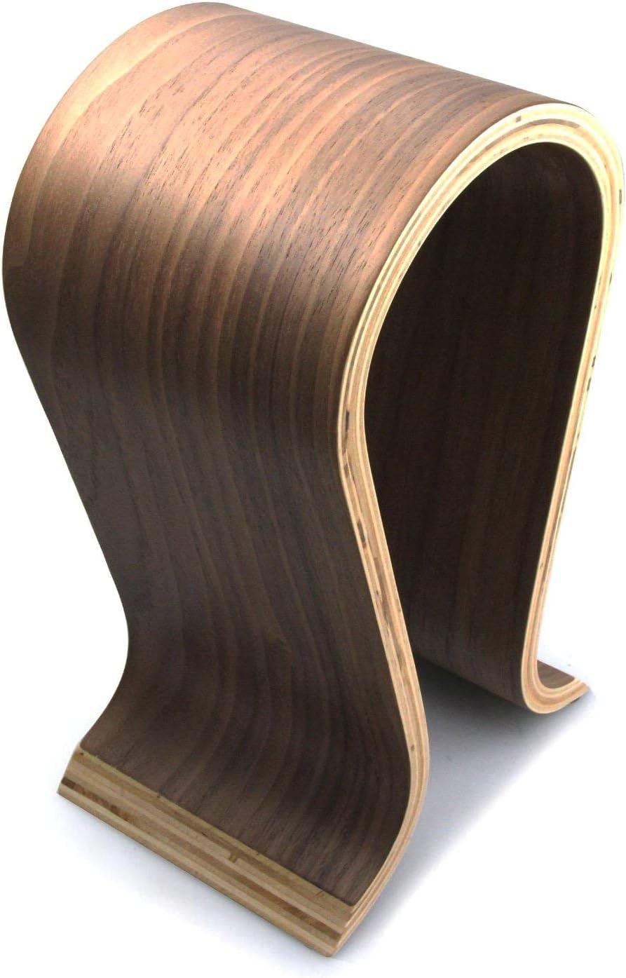 Wooden Omega Headphones Stand/Hanger / Holder - Walnut Finish