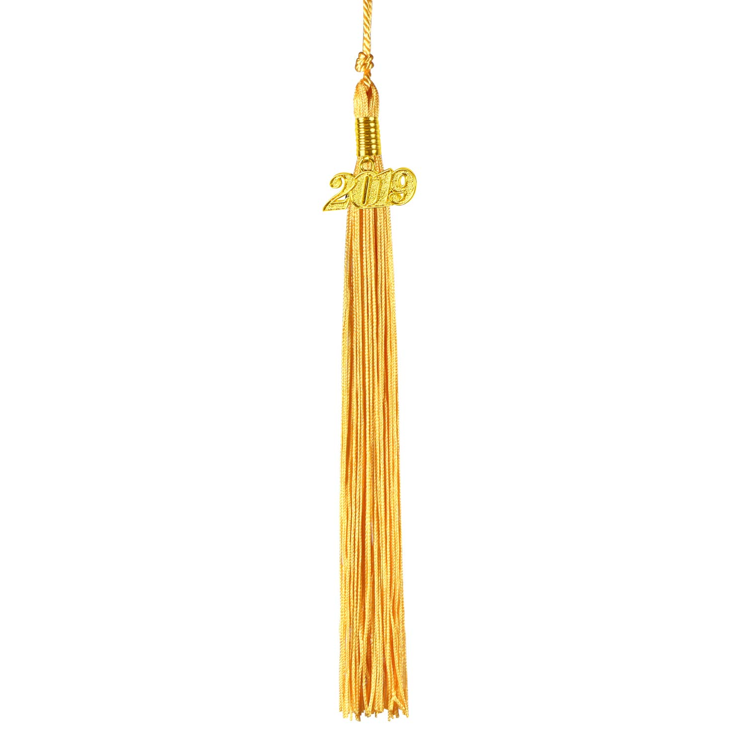 Black and Gold 2 Pcs Graduation Cap Tassel Kissbuty Uniforms Graduation Tassel with 2019 Gold Year Charm for Graduation Photography Party Double Color