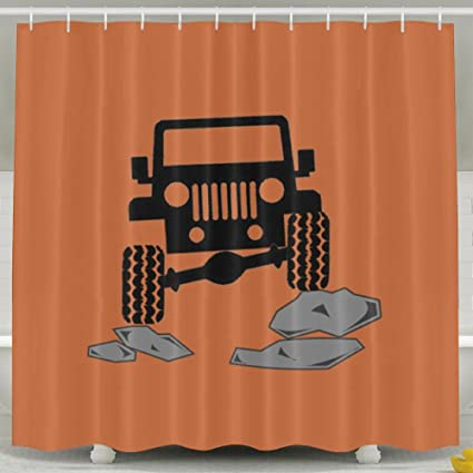 Arsmt Custom Shower Curtain With Hooks Jeep Offroad Soap Bathroom Decor