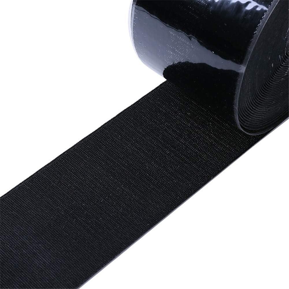 Hpera Scratch Autocollant Bande Velcro Auto-Adh/ésif Velcro Double Face Velcro Bande Velcro avec Super Collant Colle Auto-Adh/ésif Ruban Adh/ésif black1m,100mm