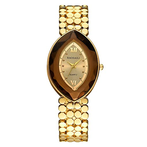 BSL961 BAOSAILI Brand EYE Shape Gold Ladies Wrist Watches Women Watches Montre Femme Watches