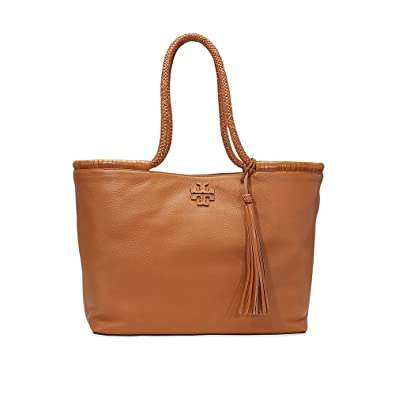 Tory Burch Taylor Leather Tote in Saddle