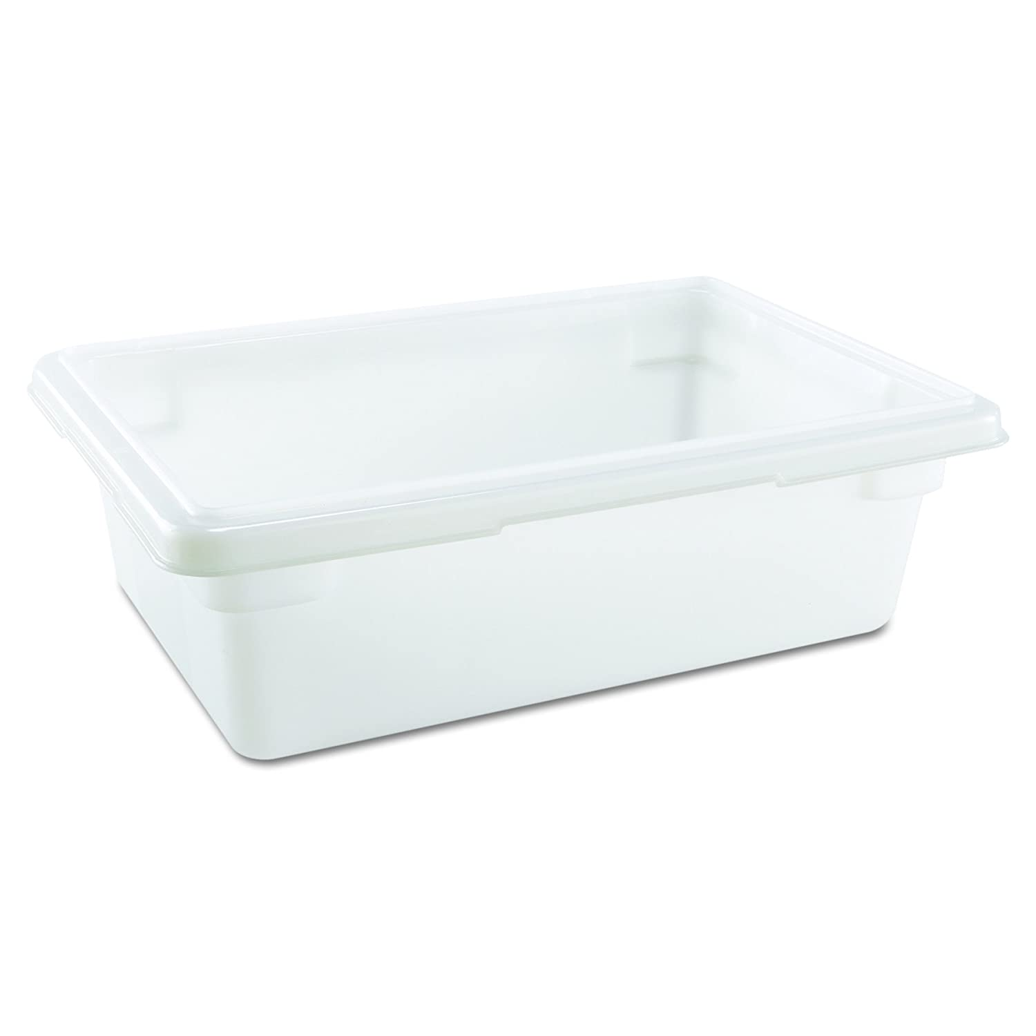 """Rubbermaid Commercial 3509 3-1/2 gallon Capacity, 18"""" Length x 12"""" Width x 6"""" Depth, White Color, High-Density Polyethylene Food and Tote Box (Lids are sold separately)"""