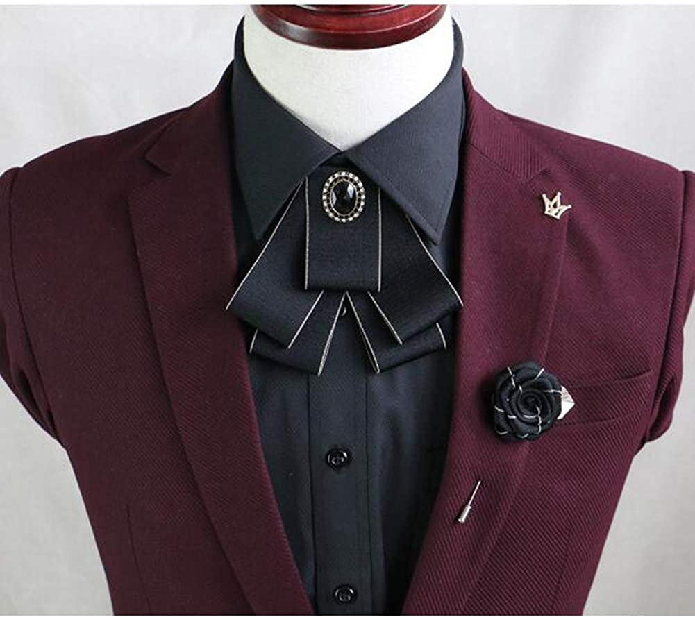 Multi-layer Bow Collar Mens Casual Suits Tie Wedding//Party Bow Tie Best Gift-A5
