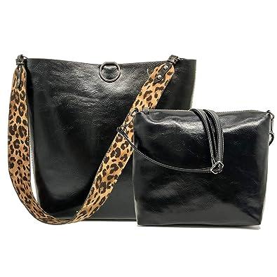 389e856e8800 Amazon.com: FiveloveTwo Women 2Pcs Leopard Print Shoulder Bag Set PU ...