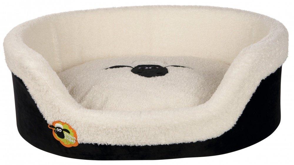 Trixie Shaun The Sheep Oval Dog Bed, 55 x 45 cm, Black Cream