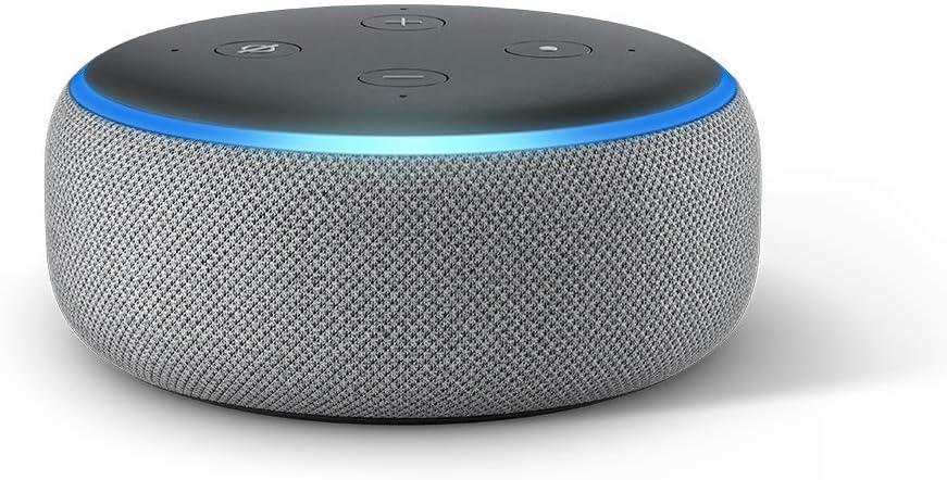 Echo Dot 第3世代、ヘザーグレー + Amazon Music Unlimited (個人プラン4か月分 *以降自動更新)