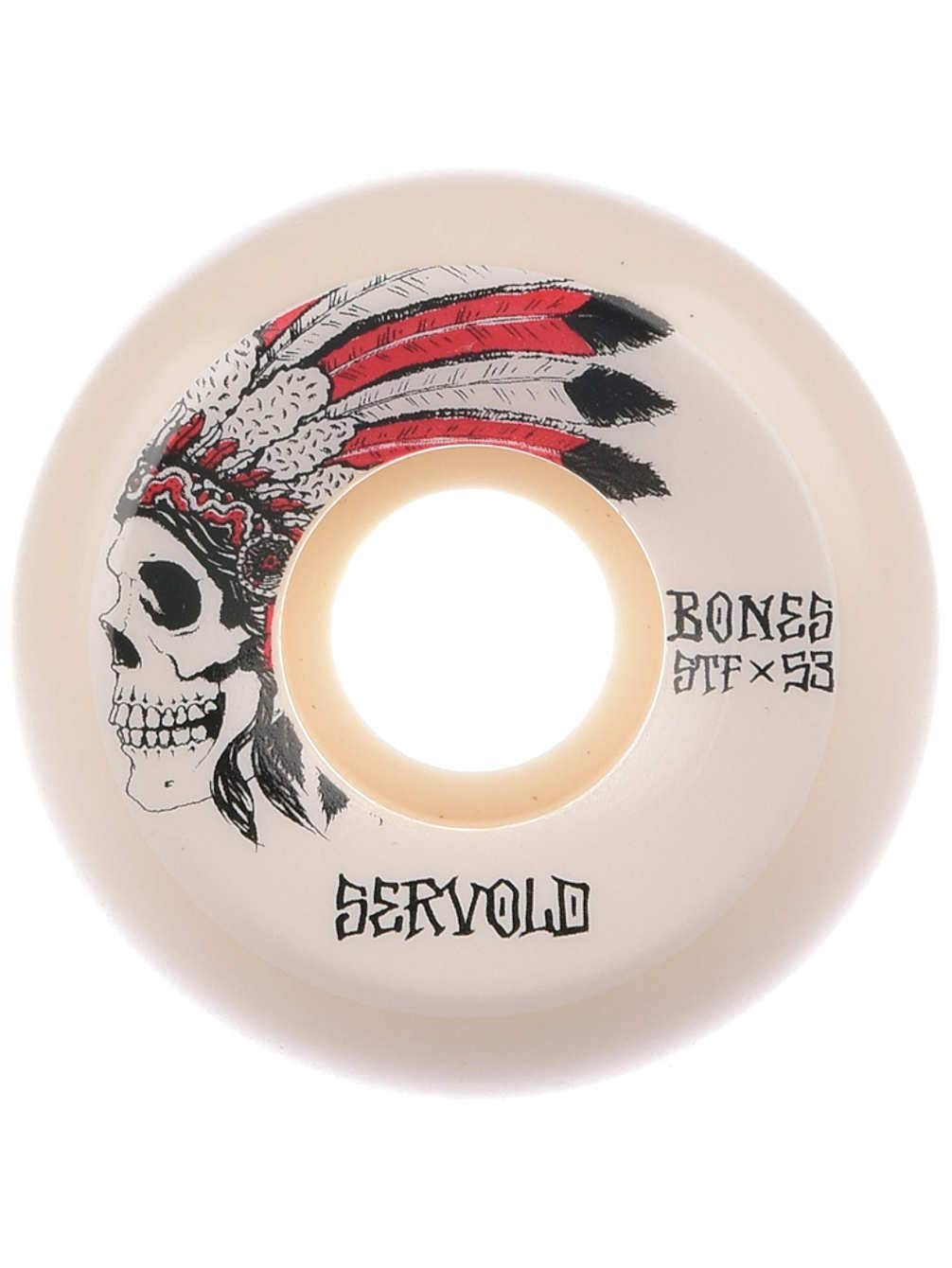 Bones STF Servold Spirit V5 スケートボードホイール 53mm   B07J1Z7C7Q