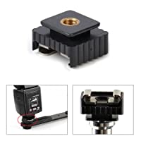 """TopOne 1/4"""" Thread to Metal Flash Hot Shoe Mount Adapter For Studio Light Stand/Tripod"""