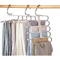 SUN Pants Scarf Skirt Storage Hanger, Multifunctional Pants Rack Collapse, Stainless Steel Portable Folding Rack Saving…