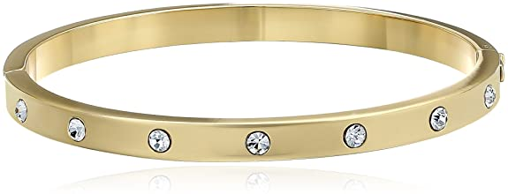 kate spade new york Set In Stone Stone Hinged Clear/Gold Bangle Bracelet