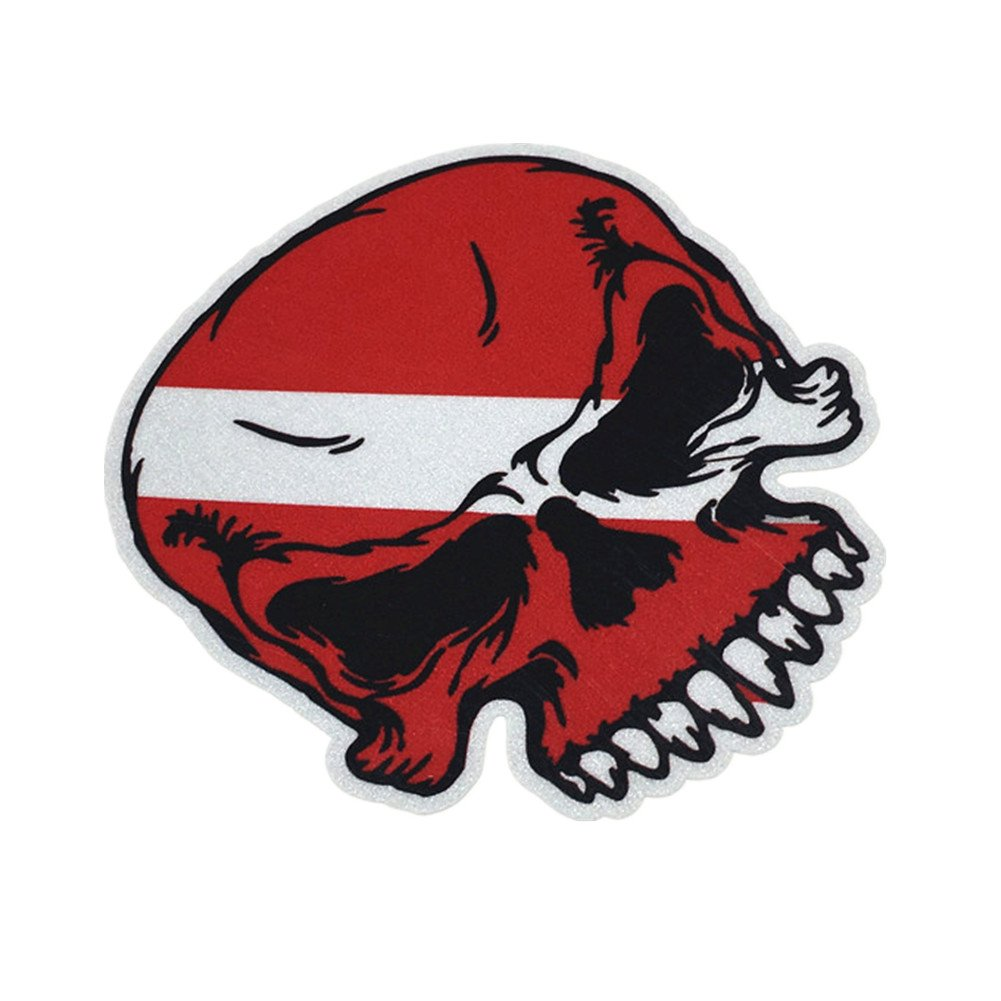 Amazon com metallica scuba diving skull car sticker decals reflective 3m for car whole body window tail 100x85mm automotive