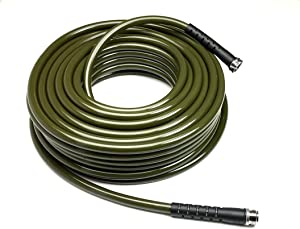 Water Right 600 Series Polyurethane Drinking Water Safe Garden Hose, 75-Foot by 5/8-Inch, Brass Fittings, Olive Green, USA Made