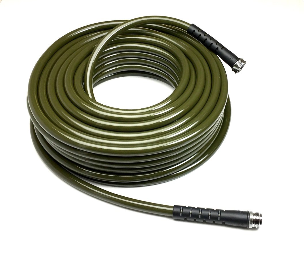 Water Right 600 Series Polyurethane Drinking Water Safe Garden Hose, 100-Foot by 5/8-Inch, Stainless Steel Fittings, Olive Green, USA Made